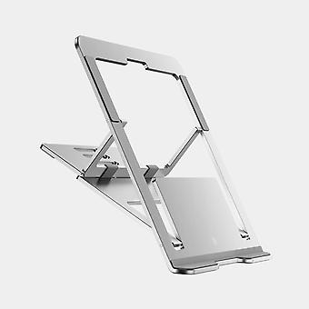 Huishu pieghevole a 5 marce regolabile telelavoro laptop dissipatione calore dissipazione supporto in lega di alluminio supporto per macbook air laptop notebook (argento)