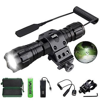 Led Weapon Gun Light White Tactical Hunting Flashlight