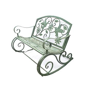 American Wrought Iron Retro Outdoor Double Rocking Chair//bench Garden/park