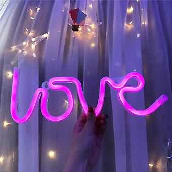 Love Wedding Decoration Pastry Display Home Decor Flex Led Neon Sign Light