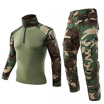 Mege Army Militær Uniform, Taktisk Kamuflasje Dress, Multicam, Combat Skjorte,