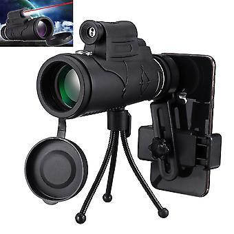 IPRee MLS-L1 40x60 أحادية الدقة البصرية BAK4 النهار ليلة الرؤية بقيادة تلسكوب ضوء يدوي ليزر مع رحلة