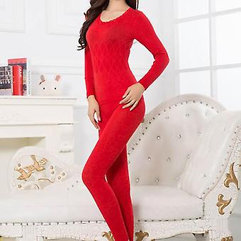 New Thermal Underwear Women Johns Long Sleeve Thermal Clothing Underwears Sets