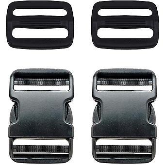 25mm 2 Set Plastic Side Release Adjustable Triglide Buckle-Design 3