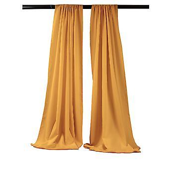 La Leinen Pack-2 Polyester Poplin Hintergrund Drape 96-Zoll breit von 58-Zoll hoch, Gold