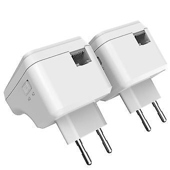 1 pari Wi-Fi Powerline Ethernet Extender Kit, Mini Plc -sovitin