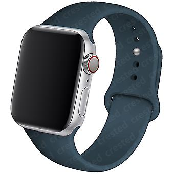 Silicone Strap 44mm 40mm 38mm 42mm Rubber Wristband Sports Bracelet Iwatch