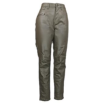 G By Giuliana Women's Jeans Coated Skinny Moto Brown 737229