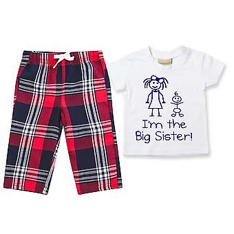 I'm Die große Schwester Tartan Hose Pyjamas