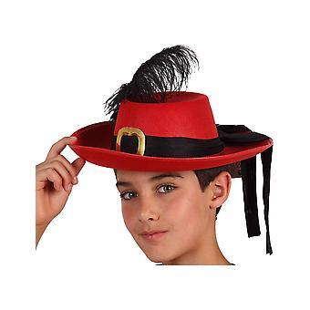 Chapeau mousquetaire rouge enfant