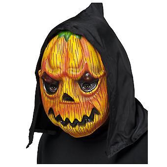 Het masker van de pompoen met volwassen kap van Halloween