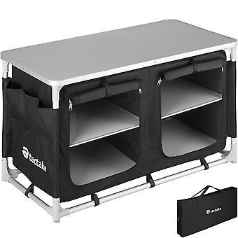 tectake Camping Cabinet 97x47.5x56.5cm - svart