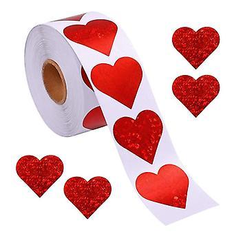 Glitter Heart Stickers Valentine's Love Decorative Stickers