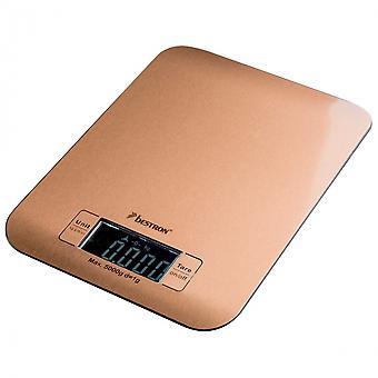 kitchen scale digital 23 x 17 x 2.5 cm copper