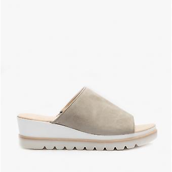 Gabor Yan Ladies Ruskind Mule Sandaler Grey