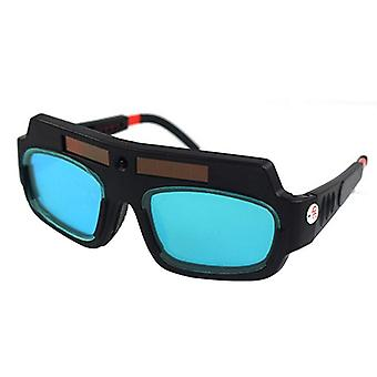 1kpl aurinkovoimalla toimiva automaattinen tummmentävä hitsausmaskikypärälasit silmien suojaamiseksi