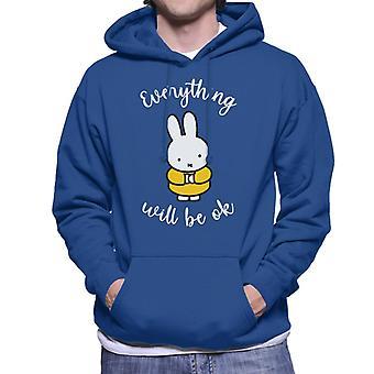 Miffy Allt kommer att vara ok män & s Hooded Sweatshirt