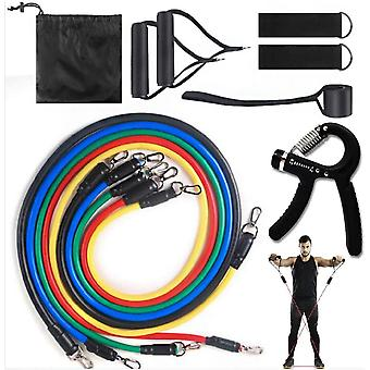 Gerui 11pcs Workout-Exercise Resistance Bands Set Men and Women-Strength Bands for Working Out,Door Pull