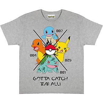 Pokemon Boys Gotta Catch Em All T-Shirt