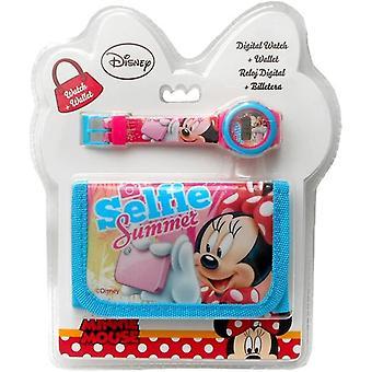 FengChun Kids Euroswan Geschenkset mit Digitaluhr und Brieftasche Modell Minnie Mouse, Composite,