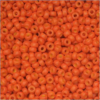Miyuki Runde Samenperlen, 11/0 Größe, 8,5 Gramm Tube, #2042 Special Dyed Harvest Orange