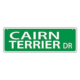 """Gadeskilt, plast, Cairn Terrier Drive, 17"""" X 6"""""""