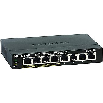 GS308P 8 Port Gigabit Ethernet LAN PoE Switch (mit 4x PoE 53W, Plug-and-Play Netzwerk Switch,