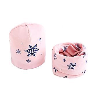Pluszowy szalik kapeluszowy, obroża na szyję gwiazd, zestaw bawełniany-5