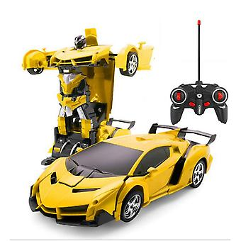 Transformation robots electric rc car sports vehicle model toys remote outdoor rc deformation cars kids toys boy birthday gift