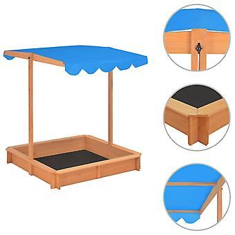 vidaXL zandbak met verstelbaar dakspar hout Blauw UV50