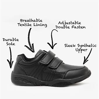 US Brass Freddie Boys Twin Touch Fastening Shoes
