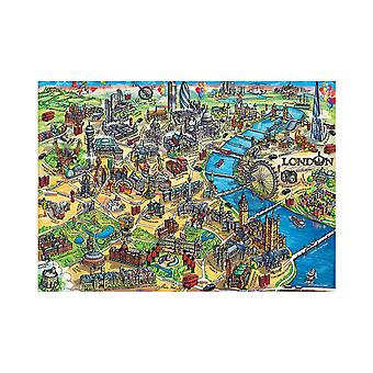 Educa Map of London  Jigsaw Puzzle (500 Pieces)