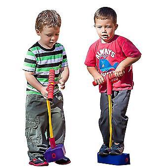 Schaumstoff Pogo Pullover für Kinder Spaß und sichere Springstock Pogo Stick (blau)