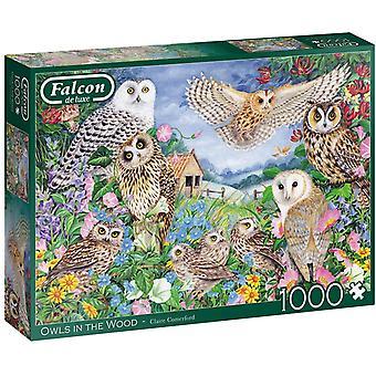 Jumbo 11286 Falcon  Owls in the Wood 1000 piece Jigsaw