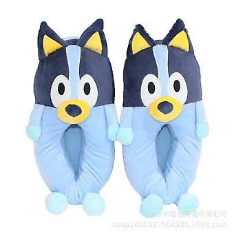 Bruto Warm Lovely Anime Slippers Home Thickened Plush Slippers Blue Free Size 30cm