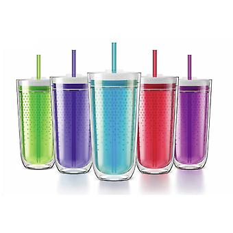 Zoku Travel Tumbler - Spill resistant double wall insulated - keeps drinks cold