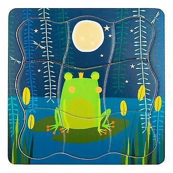 Small Foot Children's Frog King Layer Puzzle