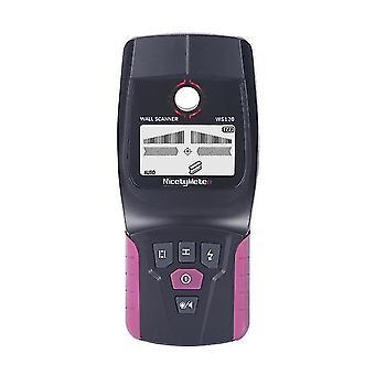 Ws120 detector de pared multifunción de mano pared metal metal cable cable finder led escáner de pared para