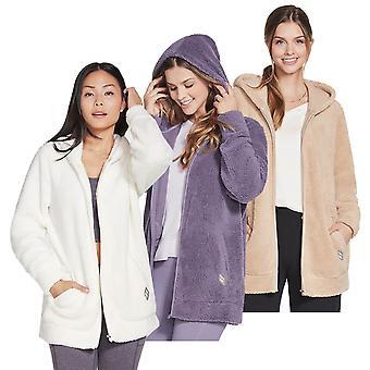 Skechers Womens 2021 Blissful Oversized Hooded Sherpa Fabric Full Zip Hoody