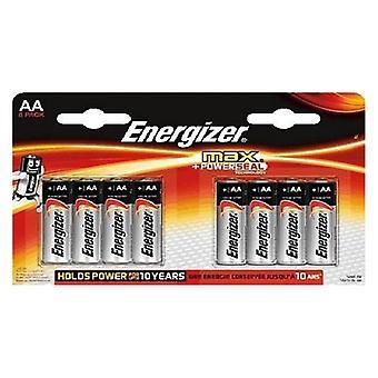 Batteries Energizer Max LR6 AA (8 pcs)