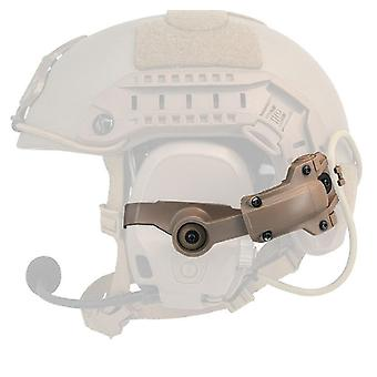 Noise Reduction Earphone Connecting Helmet Rail