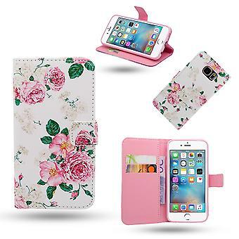 IPhone 6/6s taske/læder tegnebog-roser