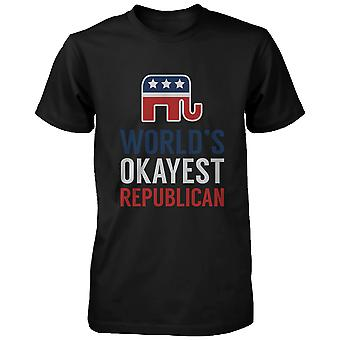 werelds Okayest Republikeinse grappige politieke rood wit blauw T-Shirt voor mannen
