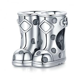 Sterling Silver Charm Boots - 7166