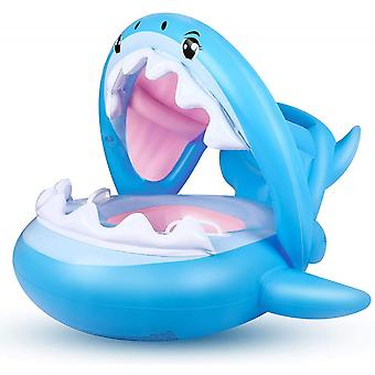 Infant Pool Seat Is Inflatable And Adjustable, Safe And Non-toxic Sunshade