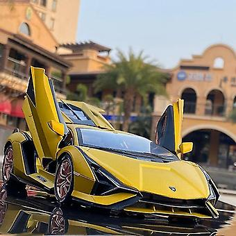 Toy cars 1:18 lamborghini model die cast alloy boys toys cars diecasts toy sian fkp37 supercar yellow