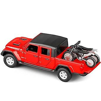 Toy cars 1/32 jeep gladiator alloy diecast car model red
