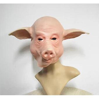 Schwein Kopf Maske Gummi Latex Tier Kostüm Vollkopf Maske Halloween Kostüm Kostüm