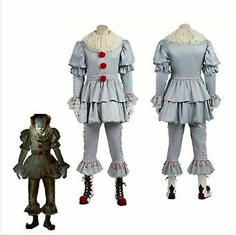 Stephen King's It Pennywise Clown Halloween Cosplay Kids Boys Men Costume Outfit
