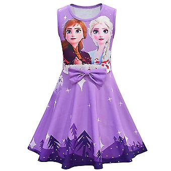 Girls Kids Princess Fancy Dress Elsa Anna Costume Party Skater Dresses